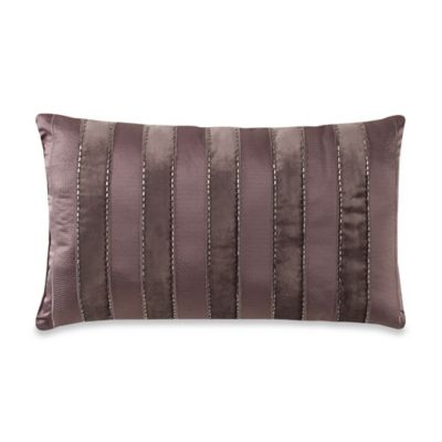 Manor Hill® Sienna Velvet Stripe Oblong Throw Pillow in Mocha