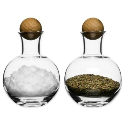 Sagaform® Spice/Herb Bottles with Oak Stoppers (Set of 2)