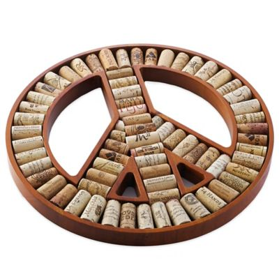 Wine Enthusiast Peace Sign Wine Cork Kit