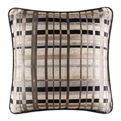 J. Queen New York™ Structure Square Throw Pillow in Taupe