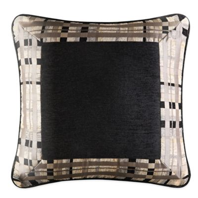 J. Queen New York™ Structure Framed Square Throw Pillow in Taupe