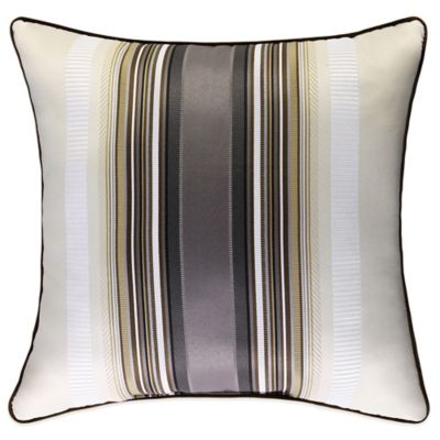 J. Queen New York™ Bennington Square Throw Pillow in Platinum