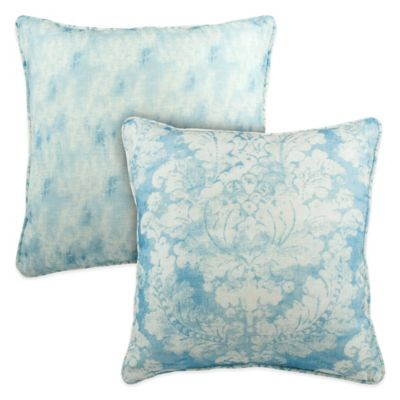 Sherry Kline Florenza Reversible Square Throw Pillow in Pacific Blue