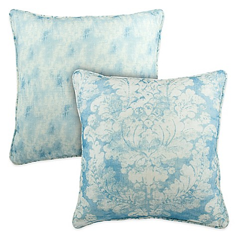 Pacific Blue Throw Pillows : Sherry Kline Florenza Reversible Square Throw Pillow in Pacific Blue - Bed Bath & Beyond