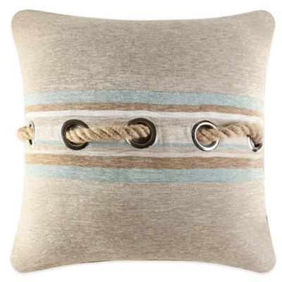 J. Queen New York Newport Jute Rope Square Throw Pillow