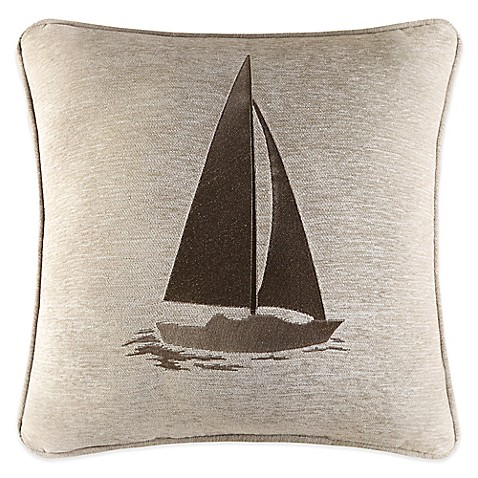 Newport Decorative Pillow : J. Queen New York Newport Sailboat Square Throw Pillow - www.BedBathandBeyond.com