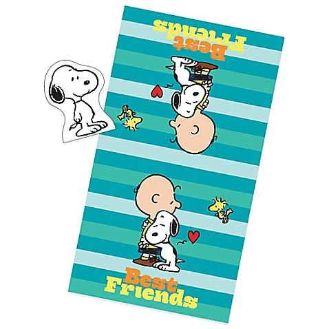 Peanuts Best Friend 2 Piece Towel And Wash Mitt Bath Set