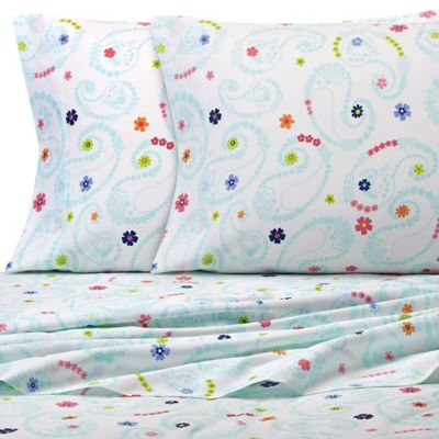 Paisley and Dot Twin Sheet Set