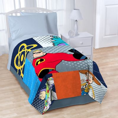 Disney® Pixar Patchwork Fleece Throw Blanket