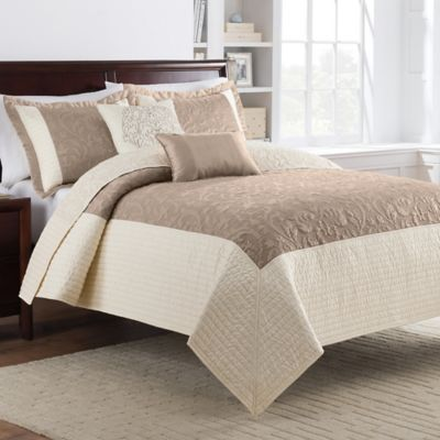 Bristol King Quilt Set in Taupe