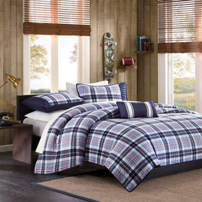 Mizone Eiliot Twin/Twin XL Coverlet Set in Blue