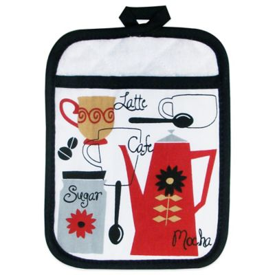 Retro Café Print Pot Holder