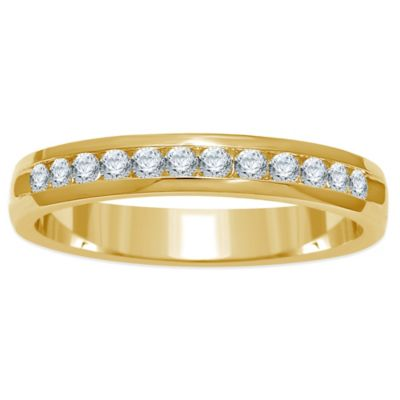 14K Yellow Gold .25 cttw Channel-Set Diamond Size 6 Ladies' Wedding Band