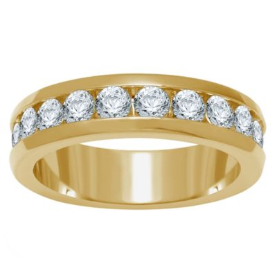 14K Yellow Gold 1.0 cttw Channel-Set Diamond Size 7 Ladies' Wedding Band