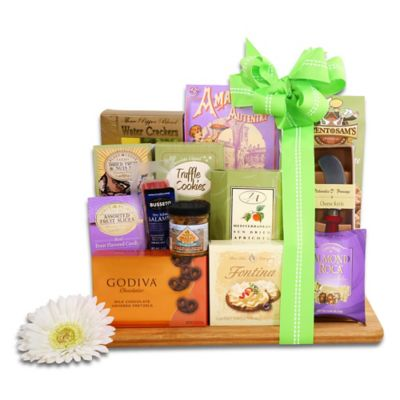Alder Creek Deluxe Springtime Gourmet Bamboo Cutting Board Gift Basket