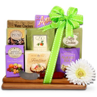 Alder Creek Springtime Gourmet Bamboo Cutting Board Gift Basket