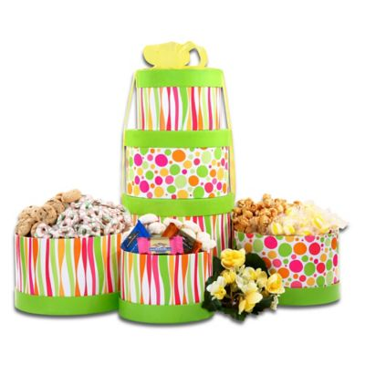 Alder Creek Springtime Tower of Treats Gift Basket