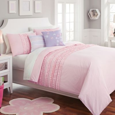 Madison Twin Comforter Set in Pink