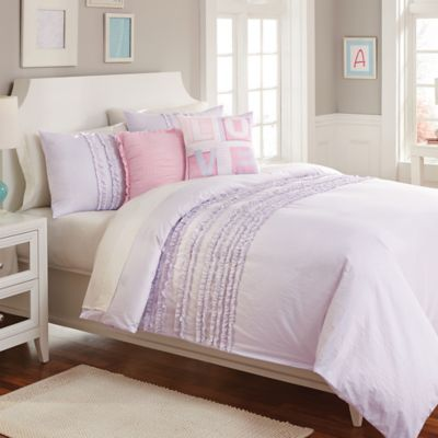 Sophia Twin Comforter Set in Purple