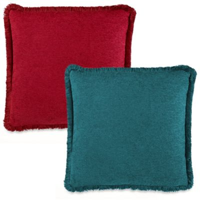 Piemonte Square Throw Pillow in Teal