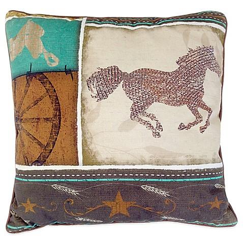 Horse square throw pillow www bedbathandbeyond com