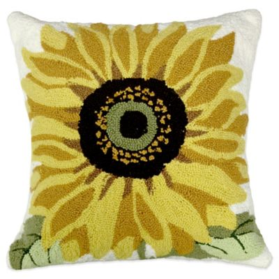 Sunflower Square Throw Pillow in Multi