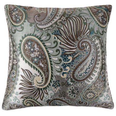 MYOP Circus Square Throw Pillow Cover in Blue/Green