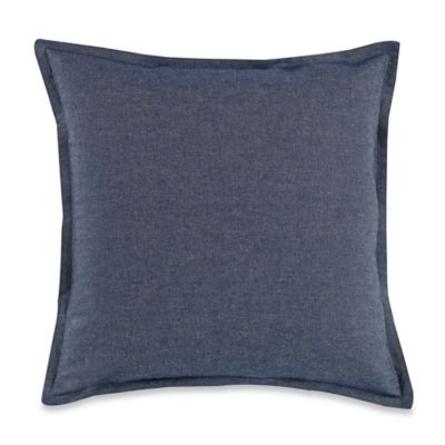 MYOP Denim Square Throw Pillow Cover in Blue