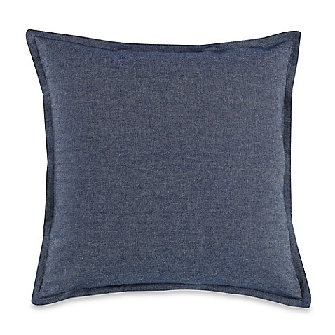 Myop Throw Pillow Covers : Buy MYOP Denim Square Throw Pillow Cover in Blue from Bed Bath & Beyond