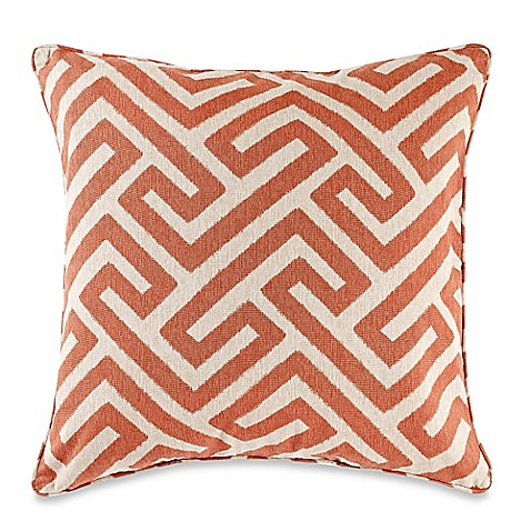 Myop Throw Pillow Covers : MYOP Keyes Square Throw Pillow Cover in Spice - BedBathandBeyond.ca