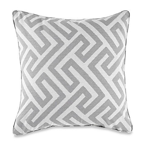 Myop Throw Pillow Covers : Buy MYOP Keyes Square Throw Pillow Cover in Grey from Bed Bath & Beyond