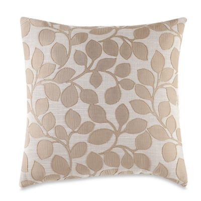 MYOP Lachute Square Throw Pillow Cover in Taupe
