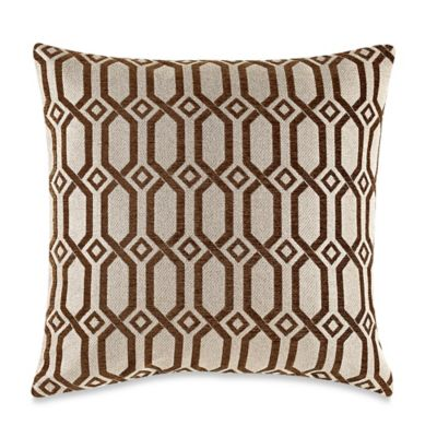MYOP LaLa Grecian Link Square Throw Pillow Cover in Bark