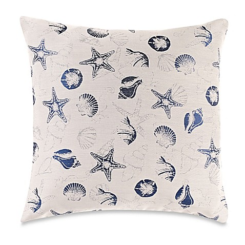 Myop Throw Pillow Covers : MYOP Seashell Square Throw Pillow Cover in Navy - Bed Bath & Beyond