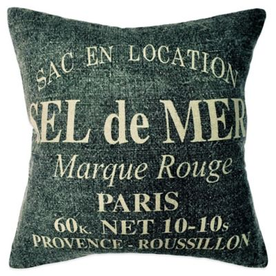 Sel De Mer Square Throw Pillow