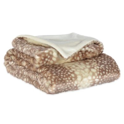 Berkshire Baby Doe Print Velvet Plush Luxury Throw