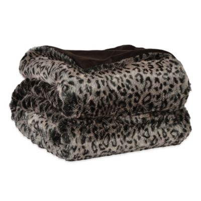 Berkshire Leopard Print Velvet Plush Luxury Throw