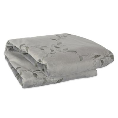 Grey Embroidered Throw