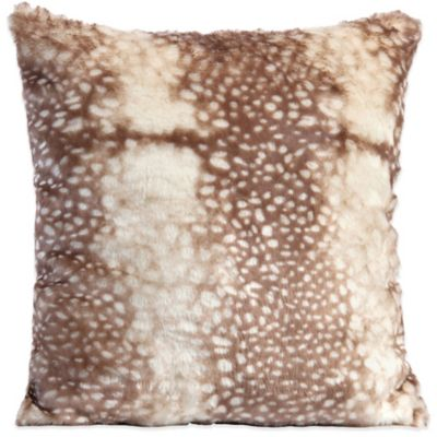 Doe Print Velvet Plush Throw Pillow
