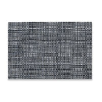 Tweed Woven Vinyl Placemat in Indigo