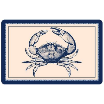 Bungalow Flooring 23-Inch x 36-Inch Nautical Crab Accent Kitchen Mat
