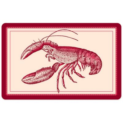 Bungalow Flooring 23-Inch x 36-Inch Nautical Lobster Accent Kitchen Mat