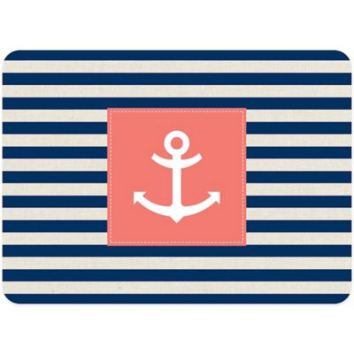 Bungalow Flooring 23-Inch x 36-Inch Anchor Stripe Accent Kitchen Mat