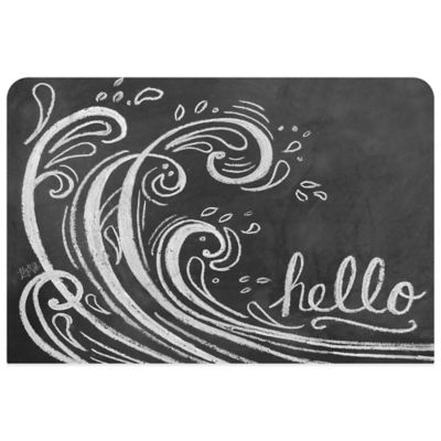 Bungalow Flooring 23-Inch x 36-Inch Wave Hello Kitchen Mat