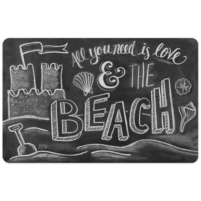 Bungalow Flooring 23-Inch x 36-Inch L & V Beach Kitchen Mat