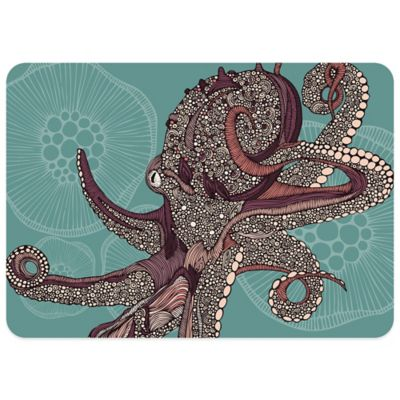Bungalow Flooring 23-Inch x 36-Inch Octopus Decorative Kitchen Mat
