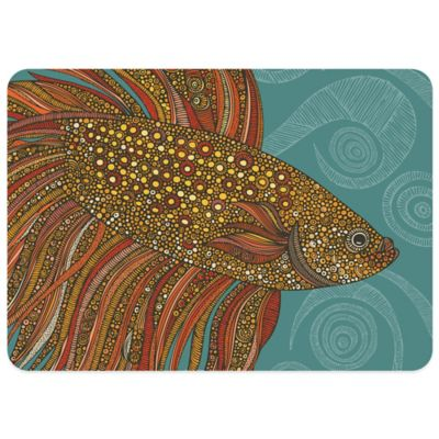 Bungalow Flooring Beta Fish 23-Inch x 36-Inch Decorative Kitchen Mat