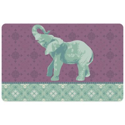 Bungalow Flooring Elephant 2 23-Inch x 36-Inch Kitchen Mat