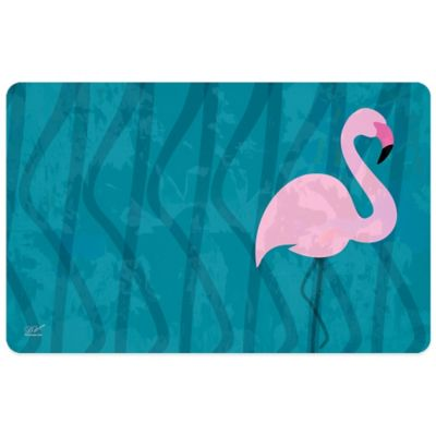 Bungalow Flooring 23-Inch x 36-Inch Flamingo Kitchen Mat