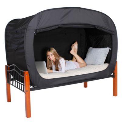 Privacy Pop Queen Bed Tent in Black